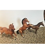 "3 Breyer Horses Pony Brown Rearing Unknown Models Smaller 5"" 7"" 8"" - $27.71"