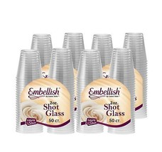 Embellish Crystal Clear Hard Plastic 2oz Clear Shot Glass Pack Of 200 4 - $19.87