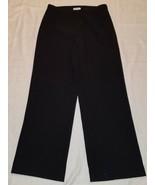 Women's Warehouse Casual / Dress Pants ~ Sz 10 ~ Black ~ Polyester Blend - $15.83
