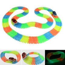 Magic Tracks Glow in the Dark Bend Flex Assembly Toy Racetrack + 1pc LED... - $24.31+