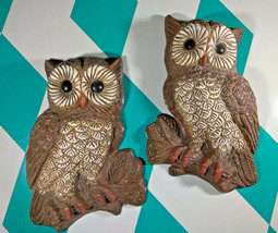 Kitschy Vintage 1970's 3D Figural Hoot Owls • Wall Decor w/ Hangers! - $20.00