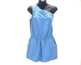 Banana Republic Women's One Shoulder Romper Pockets Blue Short Jumpsuit ... - €26,42 EUR