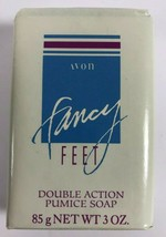 NOS AVON Fancy Feet Double Action Pumice Sloughs Softens Soap 3 oz Bar image 1