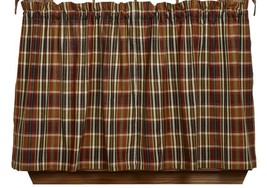 Olivia's Heartland MONTANA rustic country hunting cabin lodge TIER curtains - $37.95