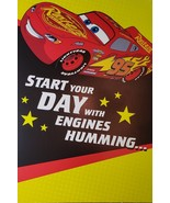 """Disney PIXAR Cars Greeting Card Birthday """"Start Your DAY with Engines Hu... - $3.89"""