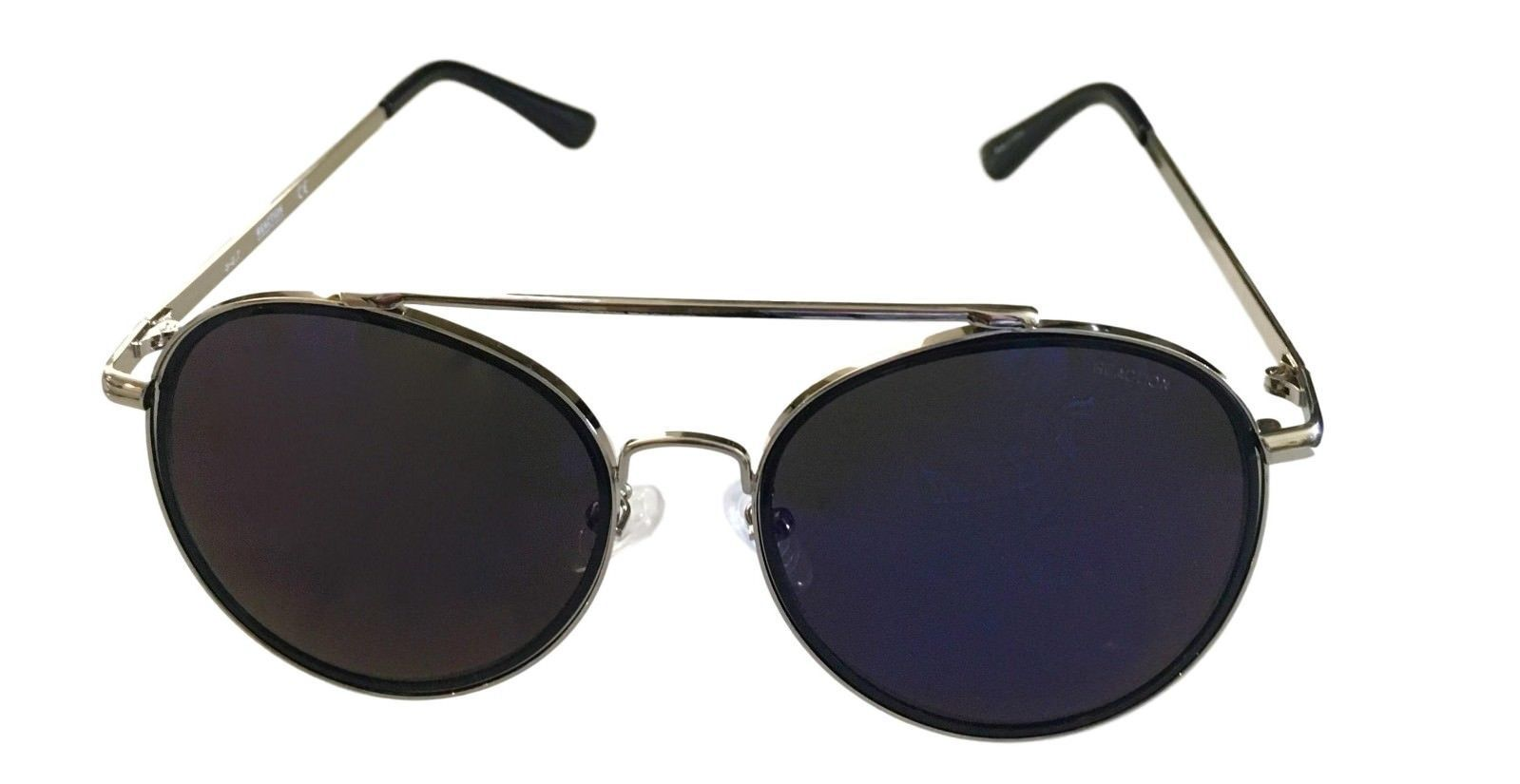 Kenneth Cole Reaction Mens Sunglass Round Silver Metal Blue Flash KC1313 10X image 2