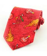 Firefighter Men's Necktie Ralph Marlin Fireman Hat Hatchet Red Neck Tie  - $24.75