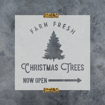 Farm Fresh Christmas Trees Stencil - Perfect Holiday Stencil for Crafts ... - $5.99+