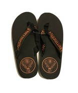 Jagermeister Flip Flop Sandals - Black and Orange - Men's Size 9   New! - $14.85
