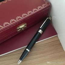 Luxury Pen High Quality Good Design black color Silver Clip ballpoint Pe... - $57.99