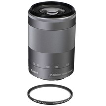 CANON EF-M 55-200mm F4.5-6.3 IS STM Silver (No box) + HOYA 52mm PRO 1D P... - $306.40