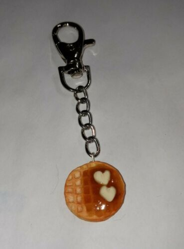 Primary image for Waffle Keychain Breakfast Accessory Key Ring Women's Clay Waffle
