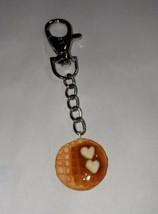 Waffle Keychain Breakfast Accessory Key Ring Women's Clay Waffle  - $7.00