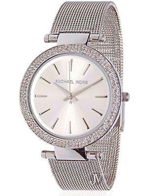6f62f20d0918 Michael Kors MK3367 Womens Silver Darci Stainless Steel New LUXURY Wrist  Watch