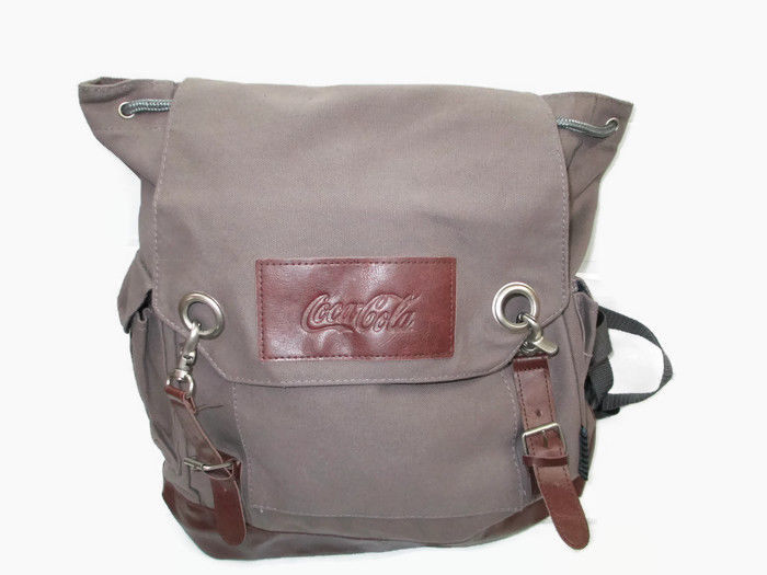 Coca-Cola Gray Canvas Computer Tote Backpack   - BRAND NEW