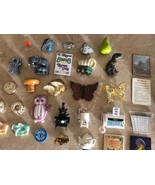 Huge Vintage Magnets Lot, Acme Magnets, Owl, Butterfly, Mushroom, Stones - $49.99
