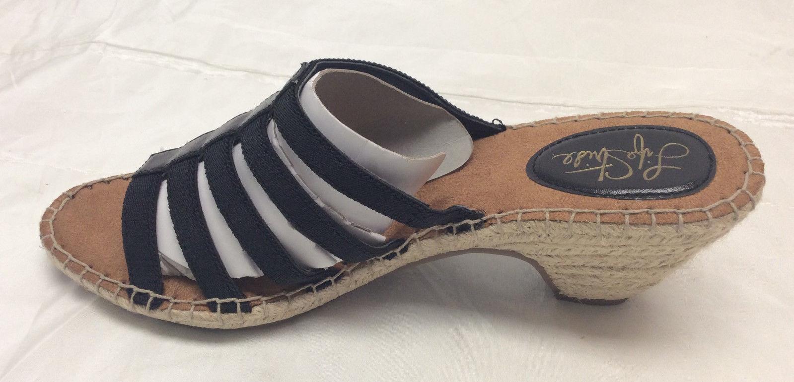 LifeStride Women's Multi-strap Espadrille Sandals - Route, Black, Size 6.5 M