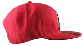 Dissizit Mens Dx Bones English D Red Snapback Baseball Hat Cap Slick Compton NW image 3