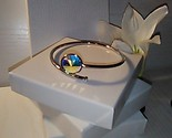 Swarovski bangle bracelet W/ AB color Swarovski Rivoli Crystal - $30.30 CAD
