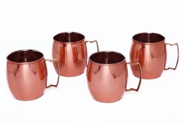 Moscow Mule Copper Mug Gift Set - Premium Quality Mugs Hammered Design w... - $22.29