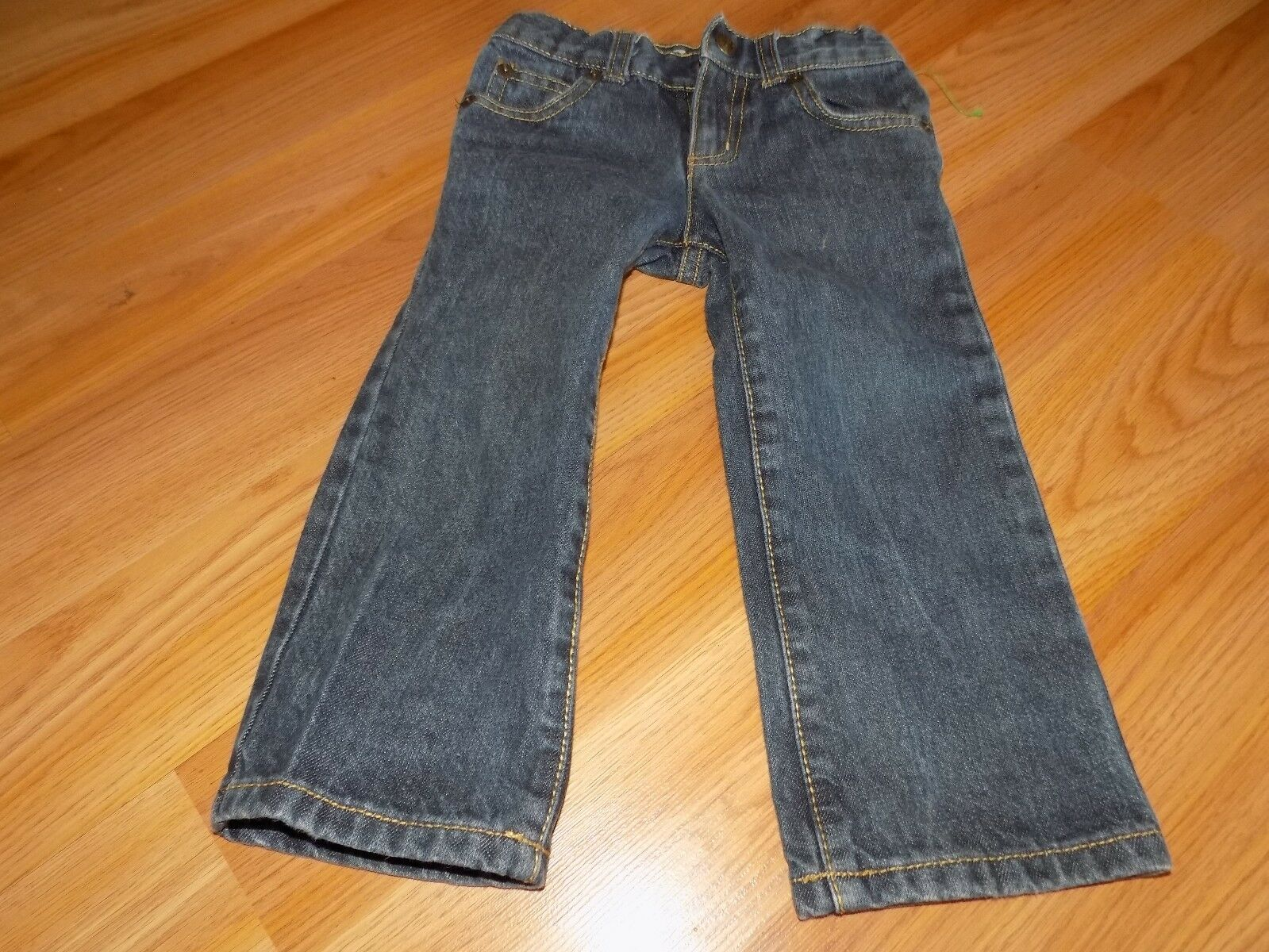 Primary image for Size 2T Crazy 8 Denim Blue Jeans Straight Leg Adjustable Waist EUC