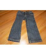 Size 2T Crazy 8 Denim Blue Jeans Straight Leg Adjustable Waist EUC - $12.00