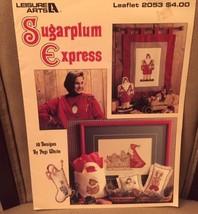 Sugarplum Express Christmas counted cross stitch pattern 10 designs Pegi... - $3.10