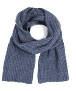 Ferruccio Vecchi Men's Donegal Rib Knit Wool Blend Scarf, Blue Jeans - $65.44