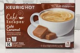 Cafe Escapes Cafe Caramel Keurig K Cup Cups 12 ct - $11.62