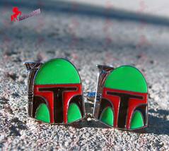 Star Wars Boba Fett White and Orange Cufflinks – Wedding, Birthday, Dad's Gifts - $3.95