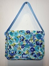 NWT Vera Bradley Lighten up Nylon Messenger Bag in BLUEBERRY BLOOMS - $69.29