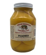 AMISH CANNED PEACHES - 32 oz Quart 1-12 Jar Lot Fresh Homemade in Lancas... - $11.85+