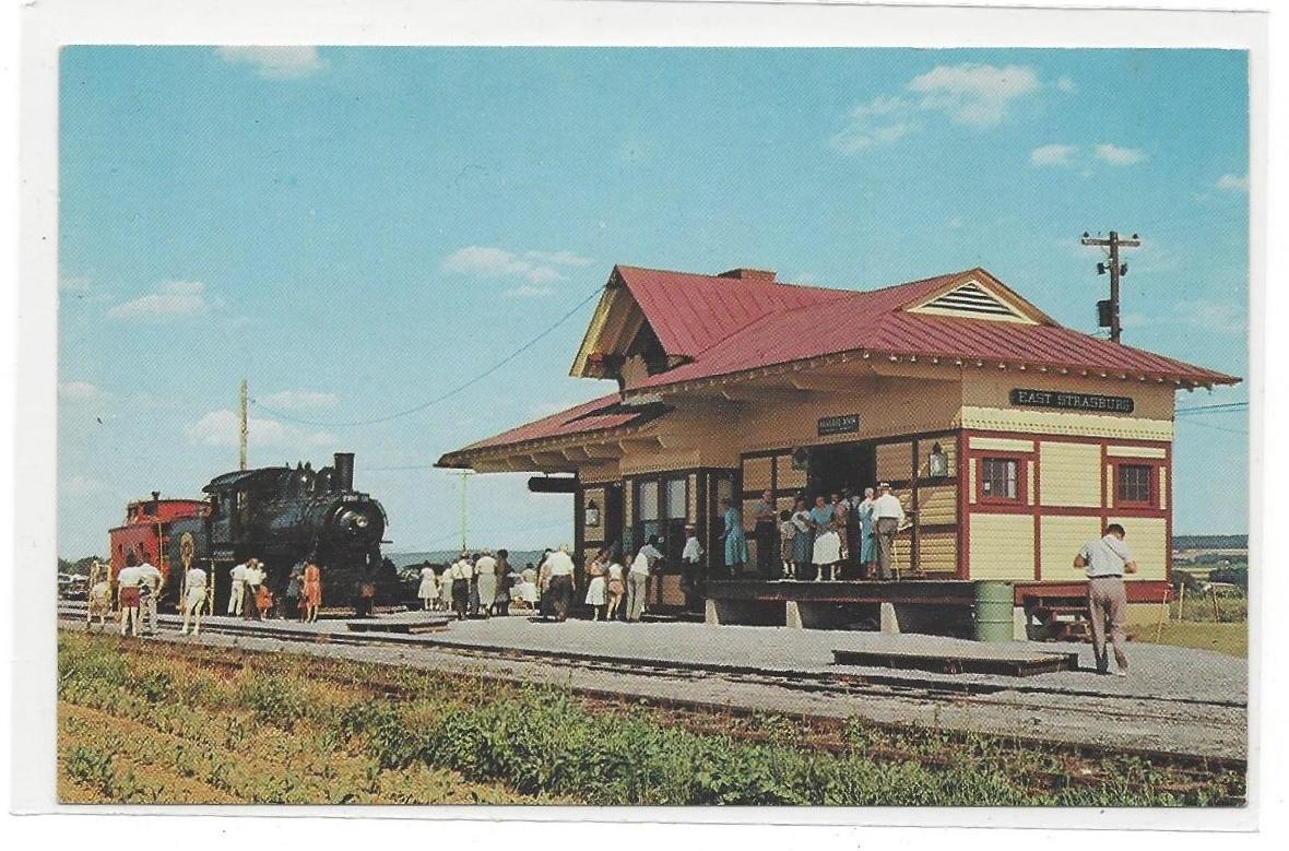 Strasburg PA Railroad Depot 1882 Passenger Station James E Hess Vintage Postcard - $4.99