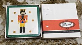 Vintage Pimpernel TOY SOLDIER Six De Luxe Finish Coasters Christmas Coas... - $9.50