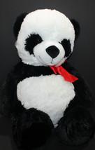 Goffa International Panda Red Bow Stuffed Plush Large - $29.02