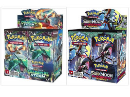 Pokemon TCG Sun & Moon Celestial Storm + Guardians Rising Booster Box Bu... - $209.99