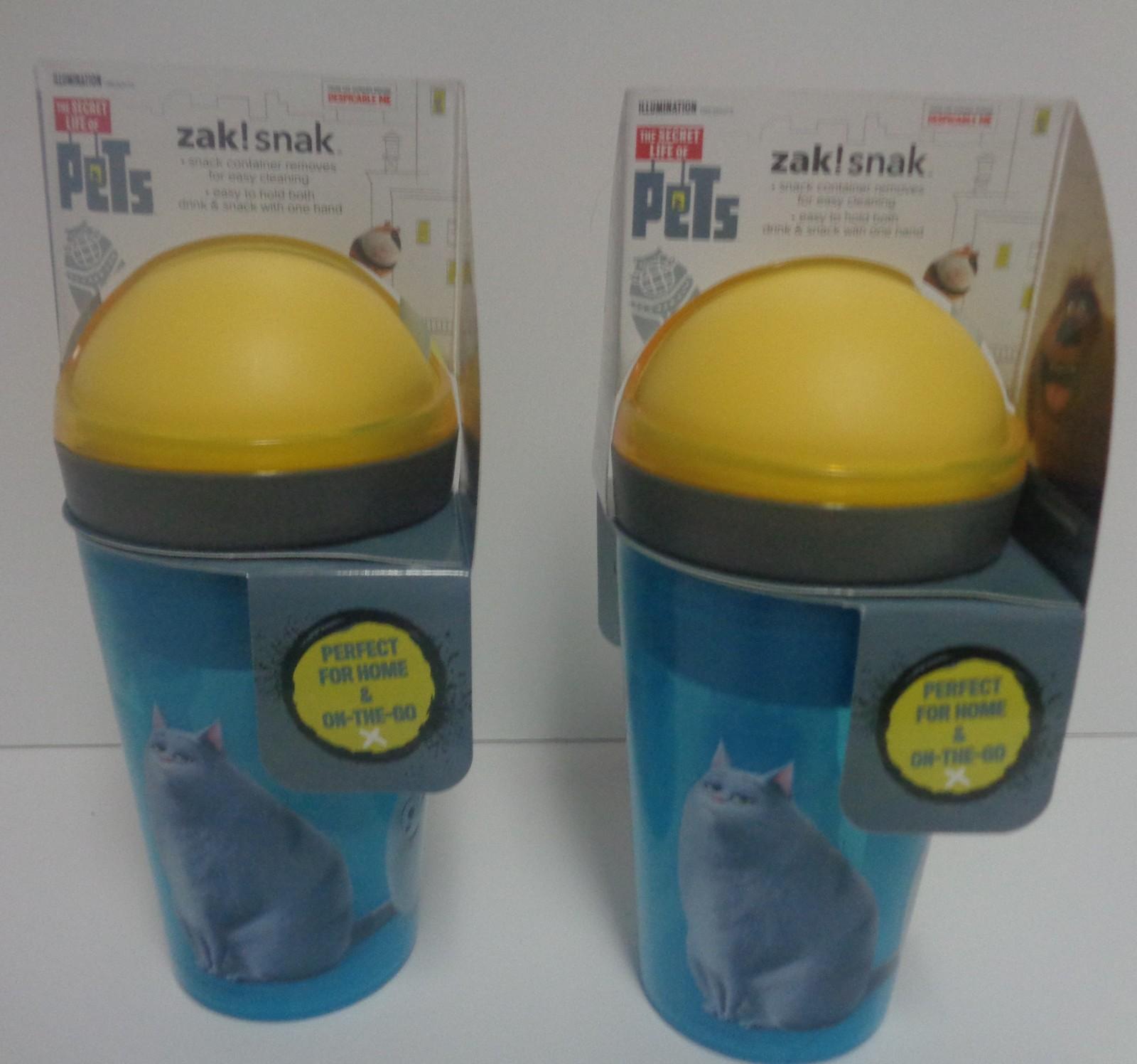 ZAK Snack & Drink Cups NWT 10 oz BPA Free Lot of 2