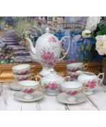 Coffee Set NSP ROYAL EMBASSY Japan Pink Carnations Coffee Pot 6 Cups, Vi... - $264.00