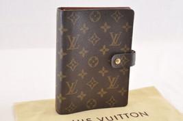 Louis Vuitton Monogram Agenda Mm Day Planner Cover R20105 Lv Auth sa1675 - $360.00