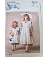 Vintage Butterick Holly Hobbie Pattern 5077 Girls Dress & Pinafore 2 - 6... - $5.99