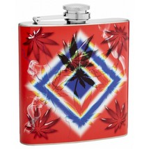 6oz Psychedelic Leaf Hip Flask - $14.45