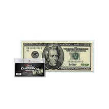 300 BCW Currency Sleeves for Regular Sized Bills -Fits up to 6 1/4 x 2 5... - $9.02