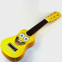 Ukulele Sponge Bob Children Guitar Cartoon Wooden 6 Strings Yellow Kids ... - $28.04
