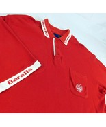 Beretta Firearms Red Polo Shooting Shirt Reinforced Right Shoulder Sz L - $29.99
