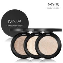 MYS Brand Face Makeup Powder 6 color Waterproof Minerals Shimmer Brightener Cont - $3.52