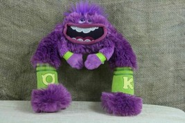 Disney Pixar Monsters Inc Monster's University Plush Stuffed Animal Toy Purple  - $7.43
