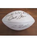 BART STARR FRAN TARKENTON HOF SIGNED AUTO WILSON NFL FOOTBALL JSA AUTHENTIC - $494.99