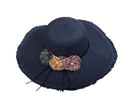 Beach Hat Sunscreen Sun Hat Foldable Large Brimmed Sun Hat Straw Hat [Da... - $20.42