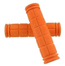 Soft and Durable Rubber Bike Grip for Cycling Road Mountain Bike [Orange] - £8.73 GBP