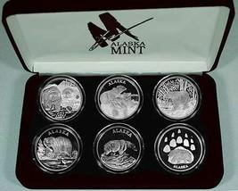 Alaska Mint 6 - BEAR SET Silver Medallion Proof  6 oz - $586.95